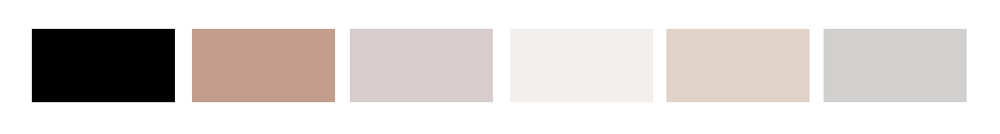 The client asked for neutral tones. We used this color palette to create different combinations and choices, giving her the freedom to have the final say on what her business cards would look like.
