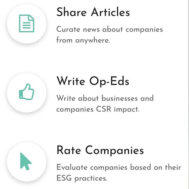 Commonstake.com allows consumer to inform one another about corporate social responsibility (CSR) in regard to the environment, society and governance (ESG).