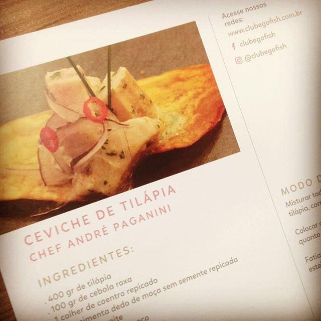 Semana de entregas #gofish 😋🐟🐟🐟 E como sempre, vai também uma receita deliciosa! #vidasaudavel #leve #boaforma #peixe #tilapiaemBH #comidaboa #comidadeverdade #instafood #gofish #clube #ceviche