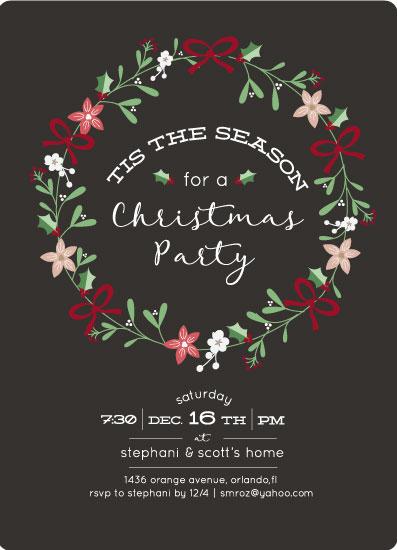 Christmas Party invitation design by illustrator Stephani Mrozinski