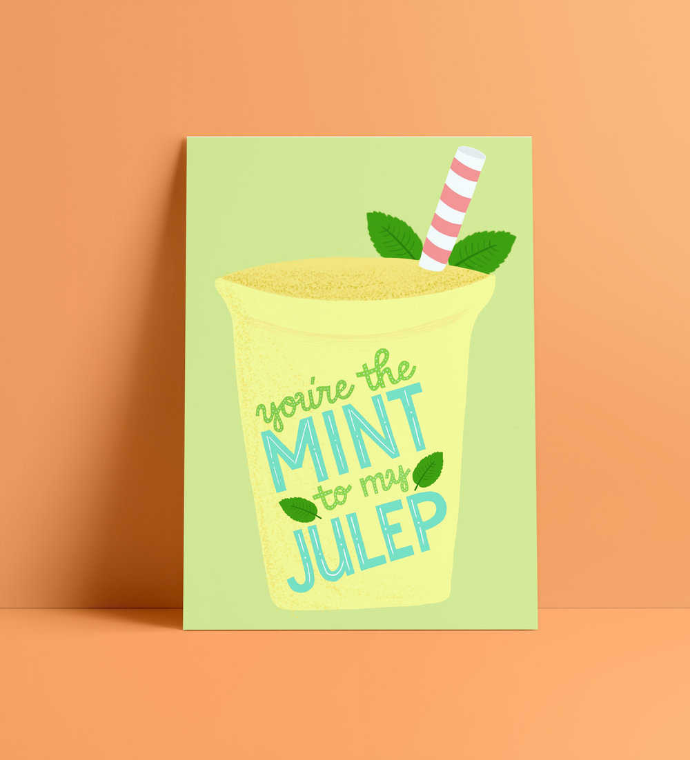 Mint Julep printable by designer Stephani Mrozinski