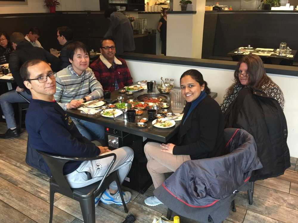 Celebrating our first paper from the lab in STM with Korean Barbecue
