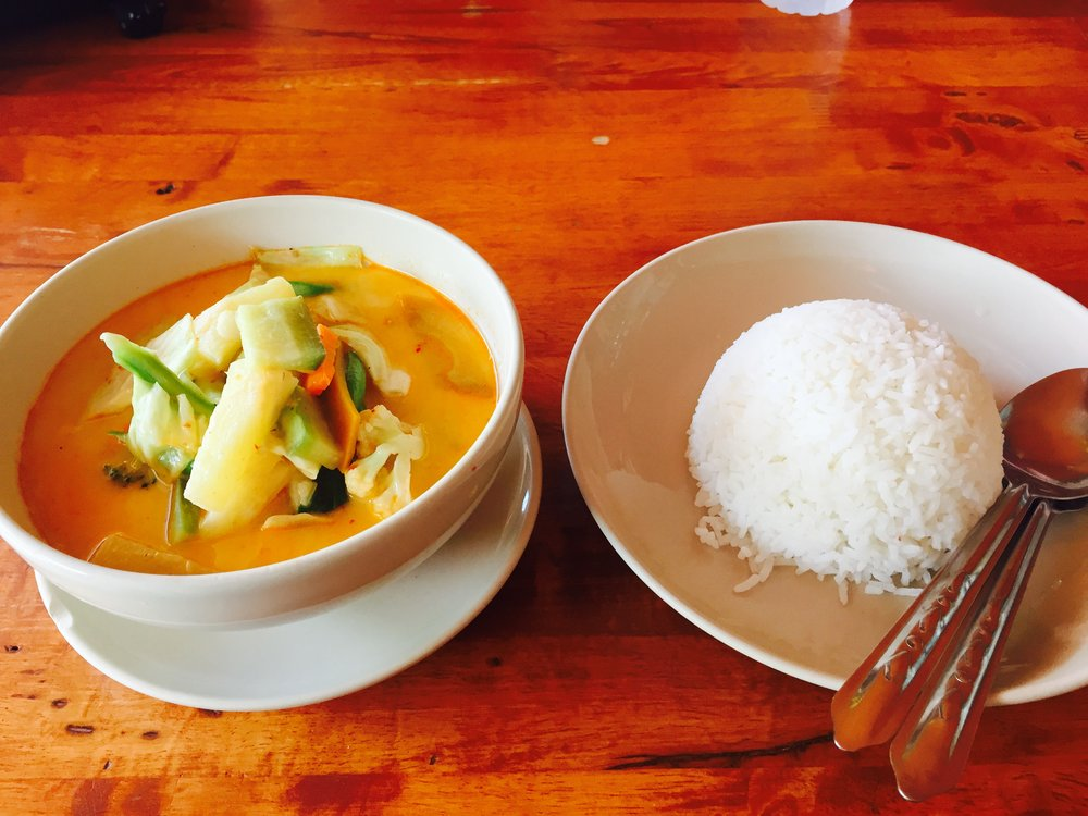 The yellow curry that I had two nights in a row. SO AMAZING!
