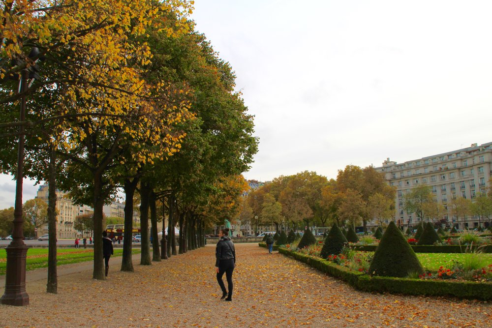 Paris in the fall is beautiful! The colorful leaves are in full effect!