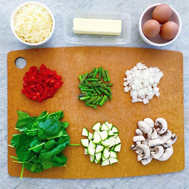 Omelette you finish, but first.....BREAKFAST 🍳  Ingredients from the best - @milkandeggscom