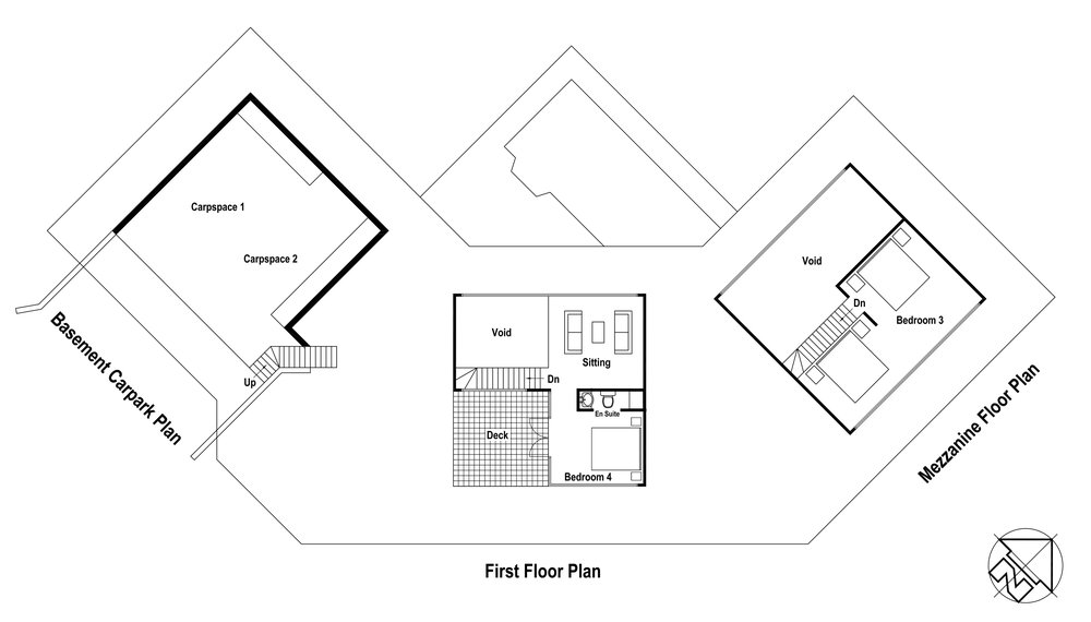 Homestead Plan - Upper Levels
