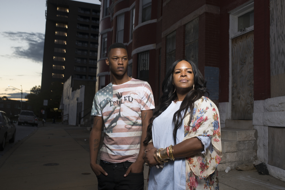Toya Graham became a celebrity after she clobbered her son, 16-year-old Michael Singleton, during the Baltimore riots. (Marvin Joseph/The Washington Post)