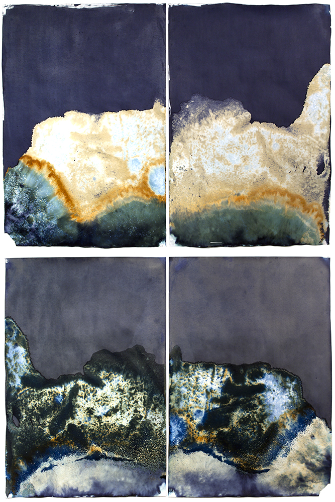 Above: Works from   Littoral Drift   // © Meghann Riepenhoff