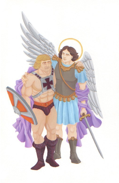 He-Man and St. Michael Find They Have a Lot in Common, 2008, from The Handsome and the Holy