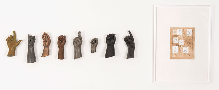 Yoan Capote, Abstinecia (Libertad), 2014, cast bronze and engraving and drypoint, The Alfond Collection of Contemporary Art,Cornell Fine Arts Museum, Rollins College