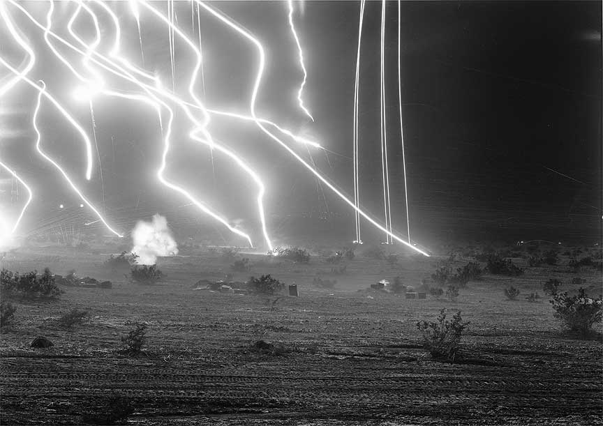 An-My Lê. 29 Palms: Night Operations III. Gelatin silver print, fro Women, War, and Industry at the San Diego Museum of Art, 2013/2014