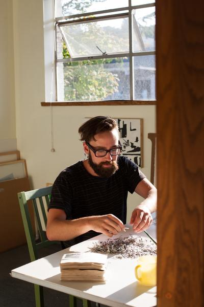 Studio visit with Joe Rudko / Photo by Megumi Shauna Arai