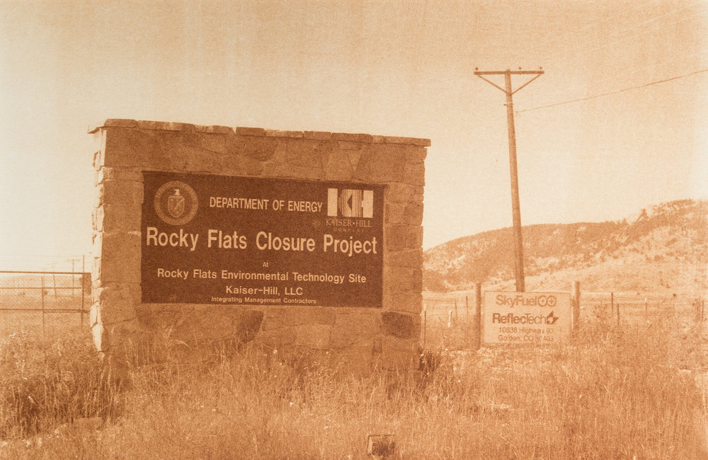 "Rocky Flats, Arvada, Colorado, Radioactive waste shipped to WIPP: 3,978,943 Gallons 2014, 9""x13"" Uranotype (uranium print)"