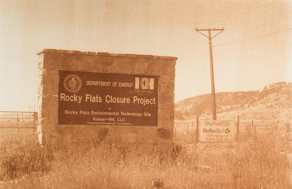 "Rocky Flats, Arvada, Colorado, Radioactive waste shipped to WIPP: 3,978,943 Gallons 2014, 9""x13"" Uranotype (uranium print)"