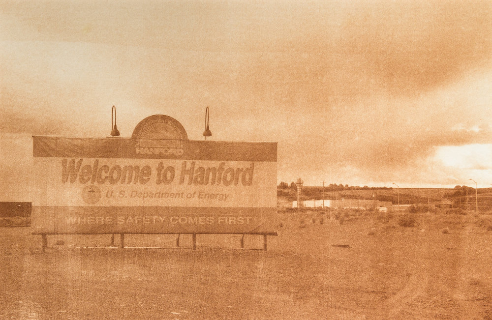 "Hanford Site 2, Hanford, Washington, Radioactive waste shipped to WIPP: 1,336,919 Gallons 2014, 9""x13"" Uranotype (uranium print)"