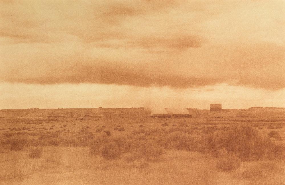 "Columbia Generating Station, Hanford, Washington, Radioactive waste shipped to WIPP: 1,336,919 Gallons 2014, 9""x13"" Uranotype (uranium print)"