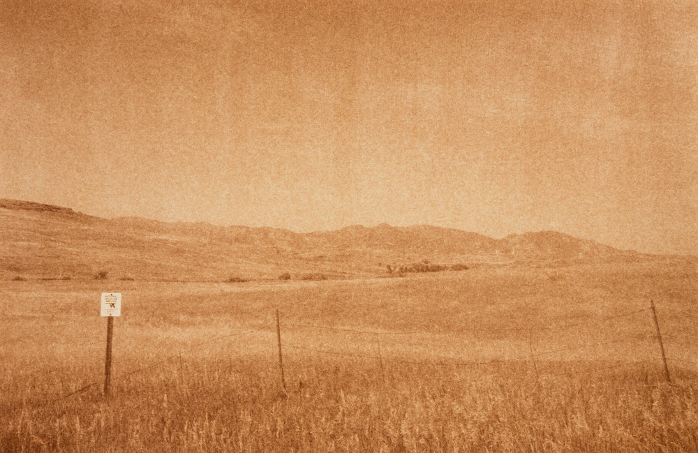 "Rocky Flats Wildlife Refuge, Arvada, Colorado, Radioactive waste shipped to WIPP: 3,978,943 Gallons 2014, 9""x13"" Uranotype (uranium print)"