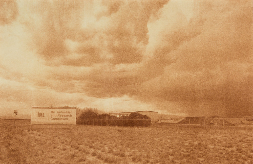 "Idaho National Labs, Idaho Falls, Idaho, Radioactive waste shipped to WIPP: 11,338,391 Gallons 2014, 9""x13"" Uranotype (uranium print)"