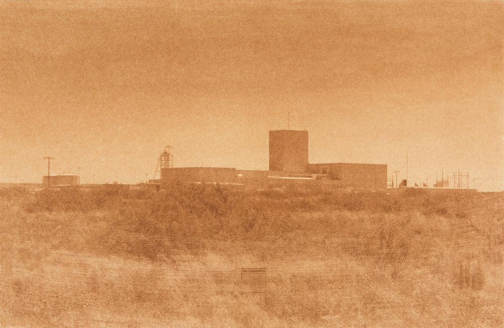 "Waste Isolation Pilot Plant 2, Carlsbad, New Mexico, Amount of waste emplaced to date: 24,035,165 Gallons 2014, 9""x13"" Uranotype (uranium print)"