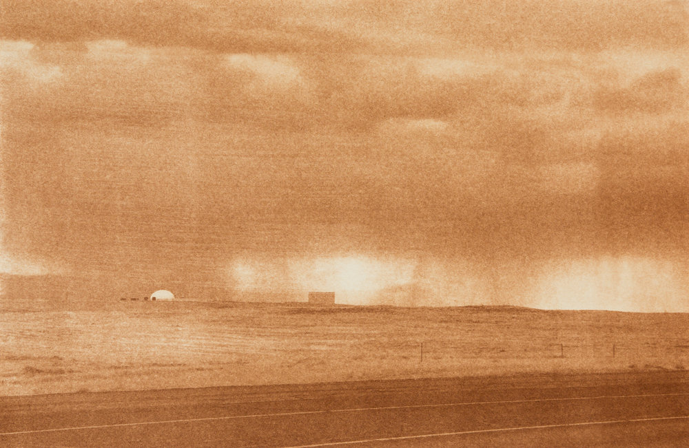"Hanford Site 1, Hanford, Washington, Radioactive waste shipped to WIPP: 1,336,919 Gallons 2014, 9""x13"" Uranotype (uranium print)"