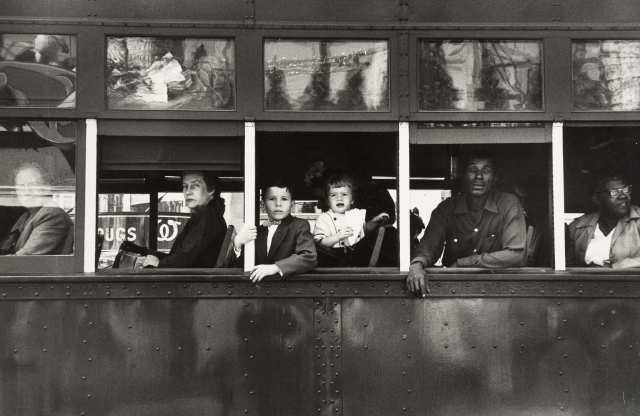Robert Frank. (1955).  Trolley, New Orleans  from the series  The Americans .