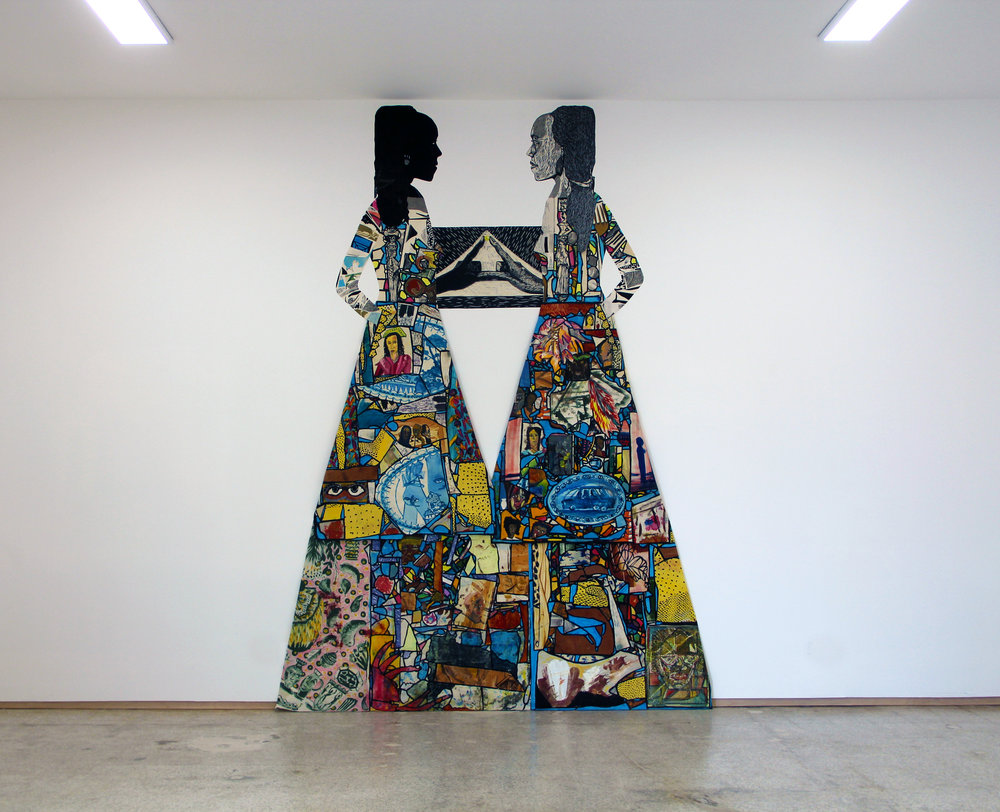 Stained Glass Sisters (installation view Emerson Dorsch Gallery, Miami)
