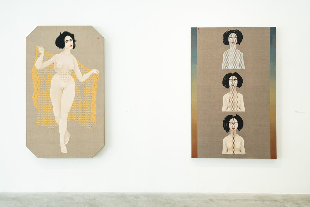 Hayv Kahraman: Acts of Reparation , installation view, Contemporary Art Museum St. Louis, September 8–December 31, 2017. Photo: Dusty Kessler.