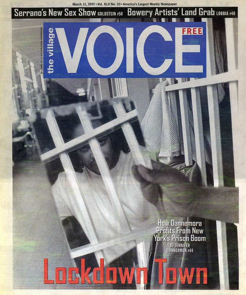 The Village Voice  cover. Meg Handler, Photo Editor. Photograph by Andrew Lichtenstein