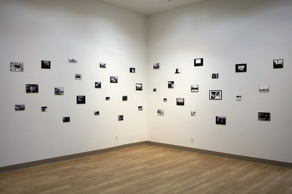 Images Seen to Images Felt , installation view Gelatin silver print photograms, exposed by the light of a laptop screen