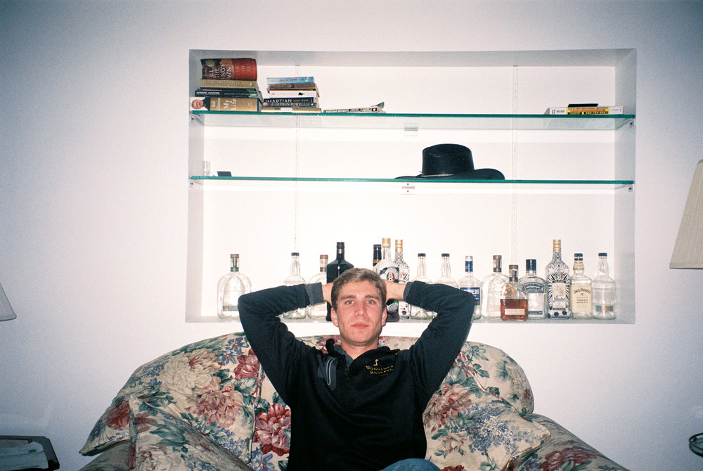 Matt relaxes at home after working as a project engineer at Woodford Reserve in Louisville, Ky. He's the only student who did not graduate from Danville High School; his family moved to Kentucky the summer after fifth grade.