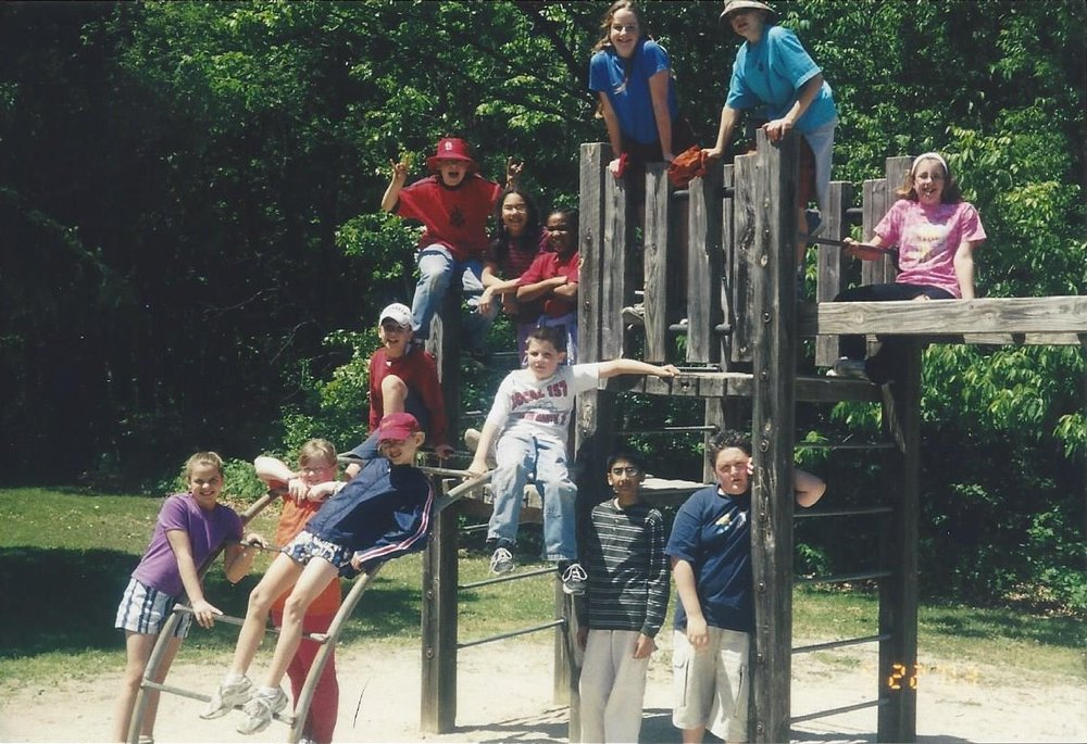 Some members of my fifth-grade class on a field trip photographed in 2003 at Kennekuk County Park in Danville, Ill.