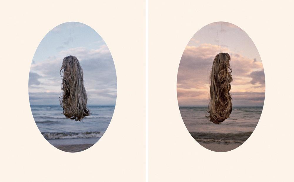 Robyn Cumming, Left: Sunrise Portrait 5:48am, 2011 Right: Sunrise, Portrait 6:37am, 2011, From the series: Frisette