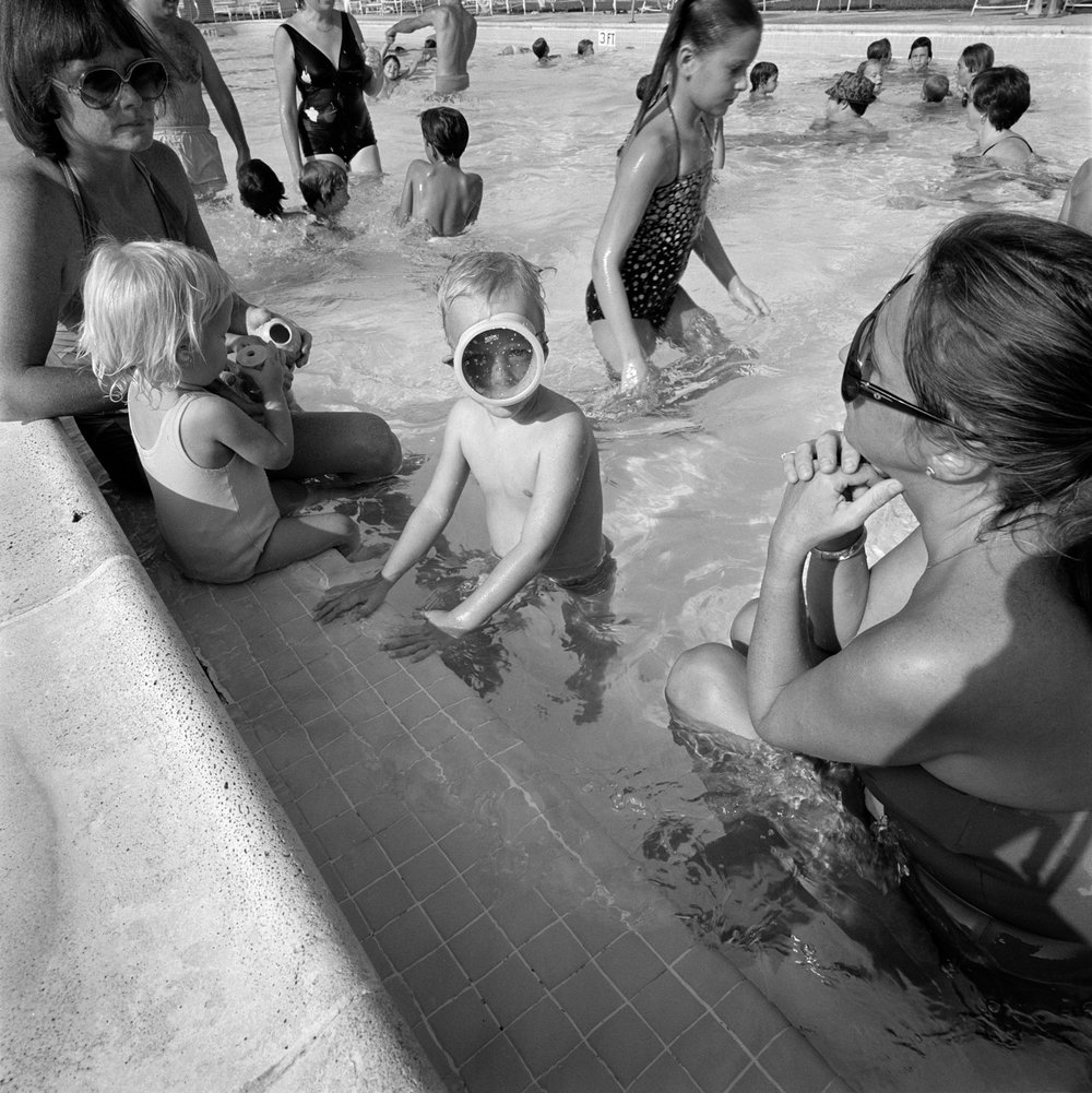 At the JCC swimming pool, 1981