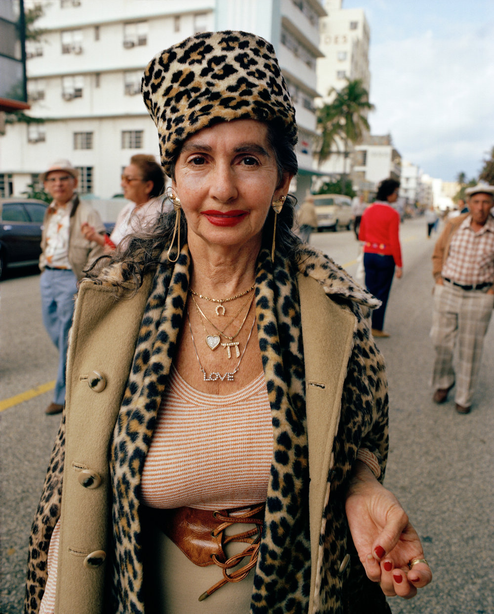 Woman on the street, South Beach, 1981