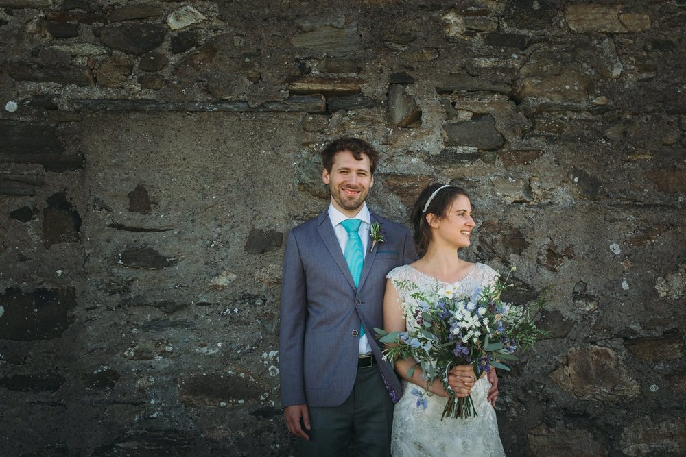 The beautiful Beth and Oli had the most intimate of weddings surrounded by 12 of their closest friends and family at their home 'Rockmountain' close to some of Islay's most spectacular beaches. Photography Credit: Jo Donaldson Photography