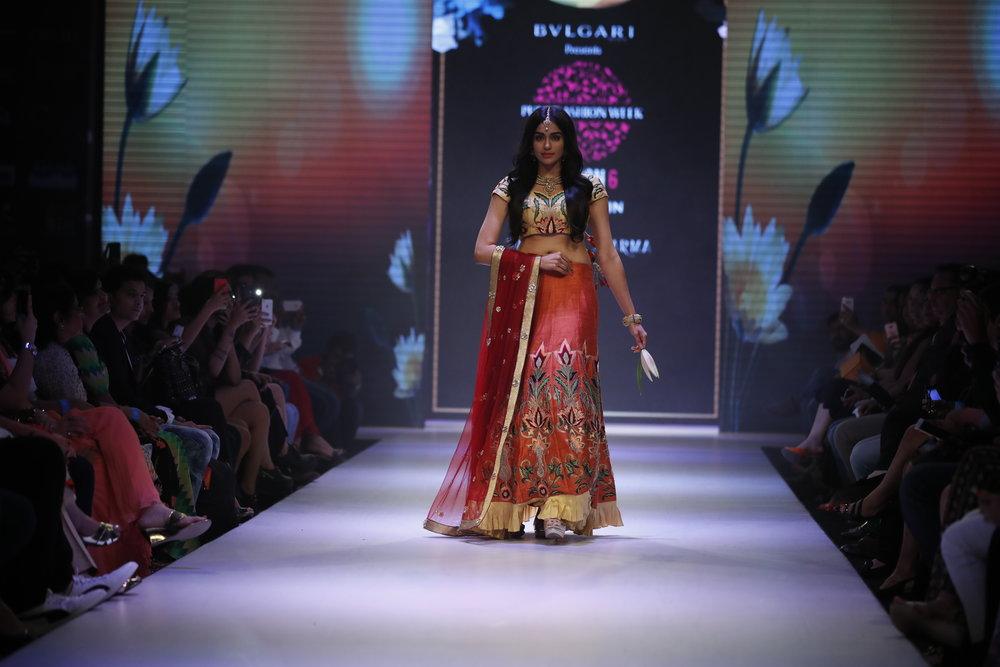 Actress Adah Sharma for Designer Sangeeta Sharma