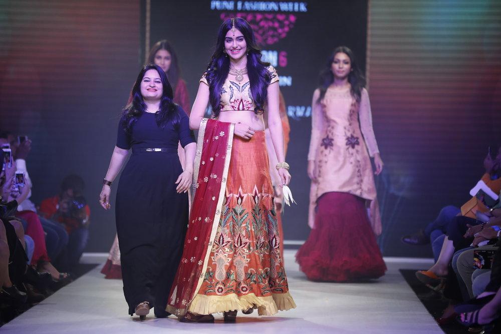 Actress Adah Sharma with Designer Sangeeta Sharma