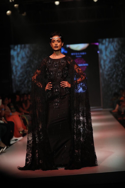 Actress Sarah Jane Dias for Designer Kanchan Kulkarni