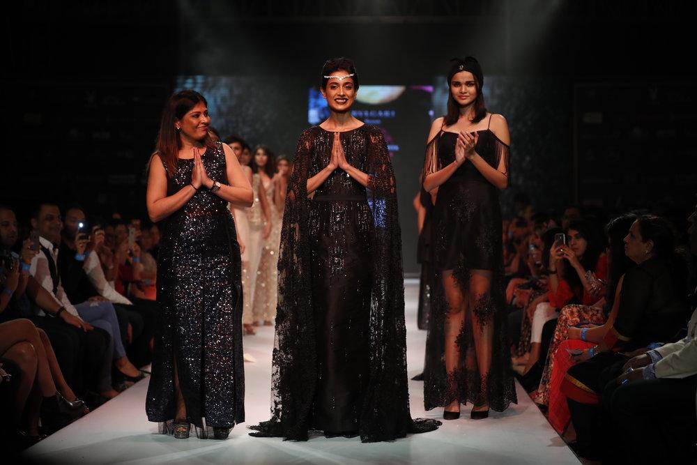 Actress Sarah Jane Dias with Designer Kanchan Kulkarni