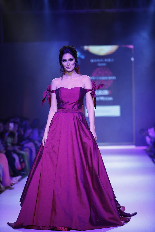Actress Bruna Andullah as showstopper for Designer Nitya Bajaj