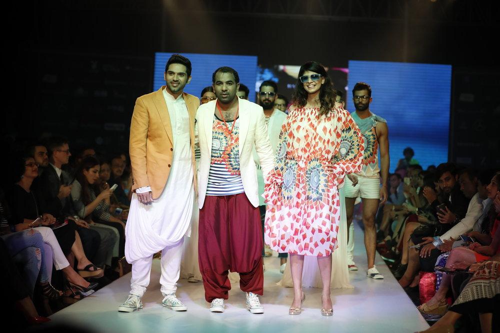 Showstopper Amit Batla with Designer Sharad Raghav
