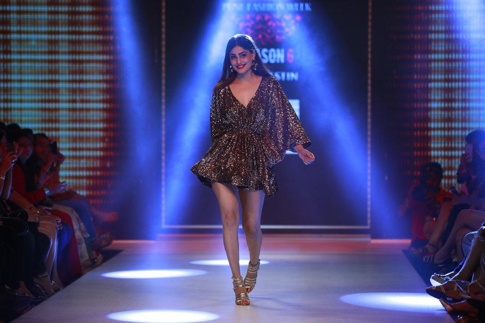 Actress Puja Gupta as showstopper for Designer Priya Kataria Puri's collection for Smile Foundation