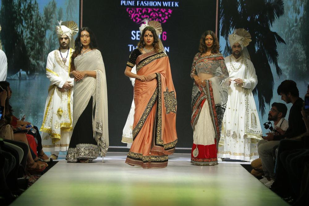 6th Edition - Pune Fashion Week 2016 Models in Designer Ashok Maaney collection.JPG