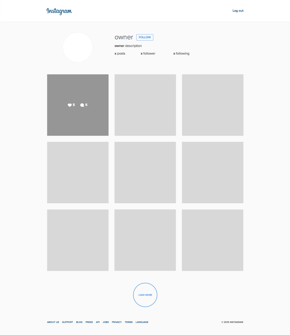 Instagram UI kit