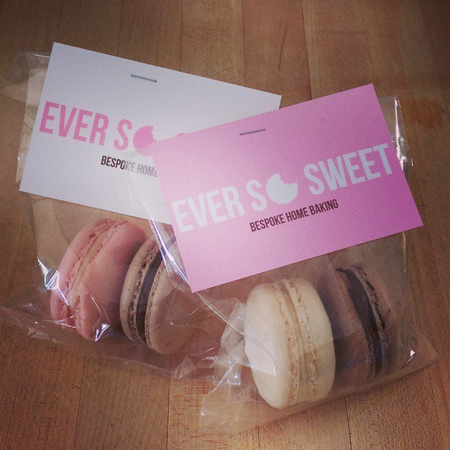 Bake this happen tips for creating stand out business cards bonus note i used my business cards to create sample giveaways of macarons customers got a taster of my product and all of my details are on the business reheart
