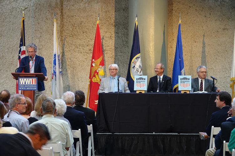 From left: Rob Citino (speaking), Günter Bischof, Hans Petschar, Wolfgang Petritsch. Photo: Titus Fermin