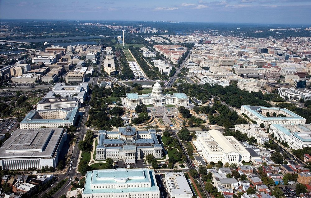 Aerial view of Washington, DC. Library of Congress