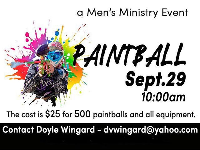 Paintball THIS SATURDAY. $25 for a whole bunch of paintballs. I feel like that's a lot. Sounds like a good deal. No promo code needed. • Contact Doyle with questions!