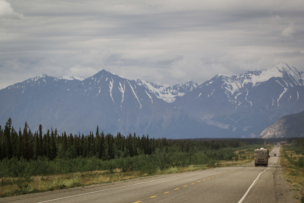 The mighty Alcan.  Although proposals began back in the 1920s, the Alaska-Canadian Highway wasn't built until 1942. It took the attack on Pearl Harbor and the US being drawn into WWII to spur its construction. Worried the Japanese would follow the invasion of Hawaii with Alaska's Aleutian Islands, a bold plan was drawn up to build a 1,400-mile supply road through the harshest landscape in North America in just 8 months. Canada agreed to it under the condition the US bear the full cost, and release it to Canadian authority once the war ended. One army colonel characterized it as a feat of engineering second only to the Panama Canal.   After having seen the rugged country this road cuts through, and reading about the conditions these men were met with (temperatures of minus fifty being one) as they completed this mammoth project, I remain in complete awe.