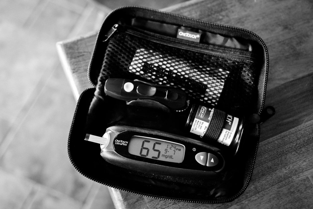 Our days are filled with yoyoing numbers, and this is one that we don't like to see. 65 is low enough to require treatment with fast-acting carbohydrates. I sometimes find myself hovering over the meter when Tom does a finger prick, trying to get a glimpse of the number. While my intentions are of course good, it's important to remind myself to respect Tom's space and his ability to manage on his own.  It's his body, after all, and he survived most of his life just fine without me. I once heard Type 1 likened to a stepchild for a spouse, a comparison that resonated with me. While it will always be a part of my life and it's important for me to be involved to a certain extent, Type 1 will always be Tom's baby and his alone.